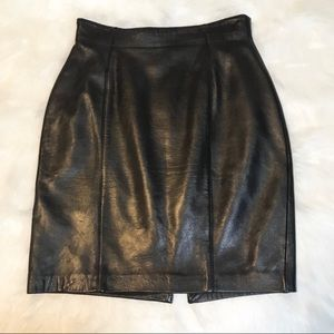 Lord & Taylor Petites 100% Genuine Leather Skirt